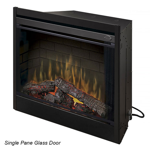 "Image of Dimplex 45"" Single pane Tamperproof Glass Door - BFGLASS45BLK - Fireplace Choice"