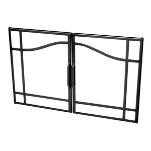 Dimplex Swing Glass Door with Black Accents - BFSDOOR33BLK - Fireplace Choice