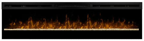 "Dimplex Galveston 74"" Linear Electric Fireplace with Glass Ember Bed - BLF74 - Discontinued - Fireplace Choice"