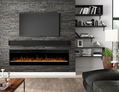 "Dimplex Galveston 74"" Linear Electric Fireplace with Glass Ember Bed - BLF74 - Fireplace Choice"