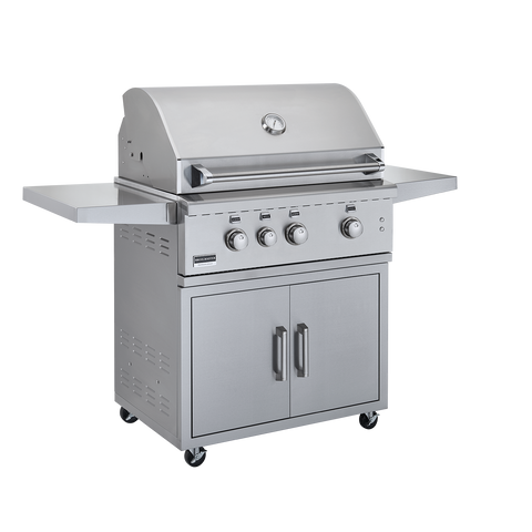 Image of Broilmaster 34-Inch BSG343 Stainless Steel Gas Grill On Cart - Fireplace Choice