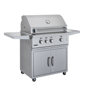 Broilmaster 34-Inch BSG343 Stainless Steel Gas Grill On Cart - Fireplace Choice