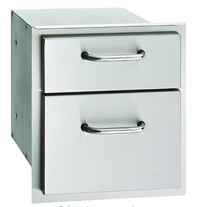 American Outdoor Grill Double Drawer - 16-15-DSSD - Fireplace Choice