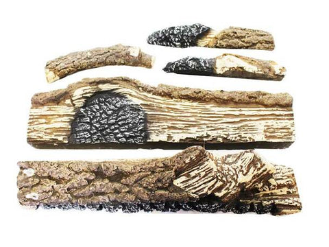 Image of Ceramic Log Set for Buck Gas Stove Models 34, 36, 42, 329 - Fireplace Choice