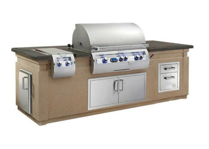 Fire Magic Fire Magic Pre-Fab Grill Island System with Double Drawer Cut - ID790-CBD-108SM - Fireplace Choice