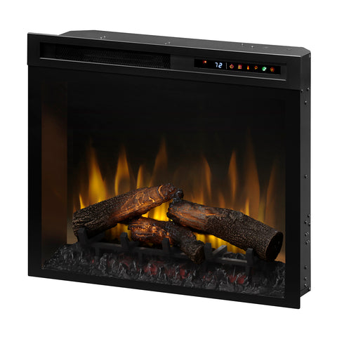 "Dimplex 28"" Multi-Fire XHD Plug-in Electric Firebox with Realogs - DF28L-PRO - Fireplace Choice"