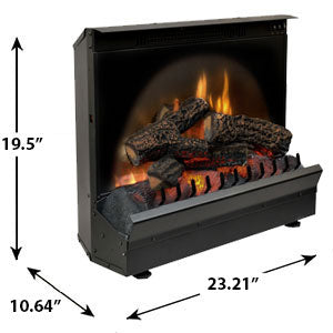 "Image of Dimplex Standard 23"" Electric Fireplace Insert Log Set - DFI2309 - Fireplace Choice"