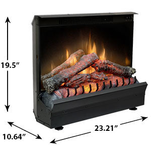 "Dimplex Deluxe 23""  Electric Fireplace Log Set - DFI2310 - Fireplace Choice"