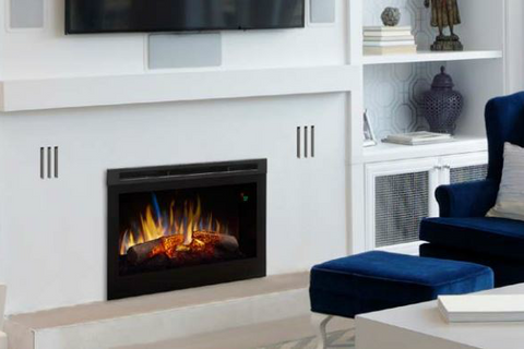 "Image of Dimplex 25"" Plug In Electric Firebox with Glow Logs - DFR2551L - Fireplace Choice"