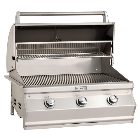 "Fire Magic Choice 30"" Built-In Gas Grill With Analog Thermometer  - C540I-RT1 - Fireplace Choice"