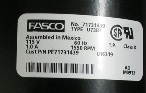 Image of Fasco Single Speed Blower for Buck Wood Stoves - PE-71731439 - Fireplace Choice