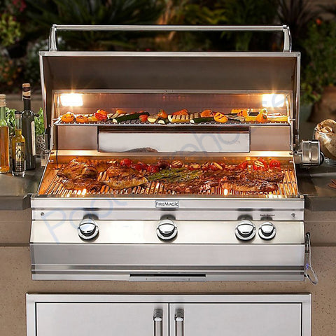 "Fire Magic Aurora  30"" Built-In Gas Grill With Analog Thermometer  - A540I-7EAN/A540I-7EAP - Lifestyle"