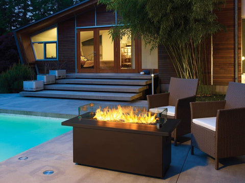 Image of Firegear Key West Coffee Fire Table with Sunset Bronze Top - Fireplace Choice