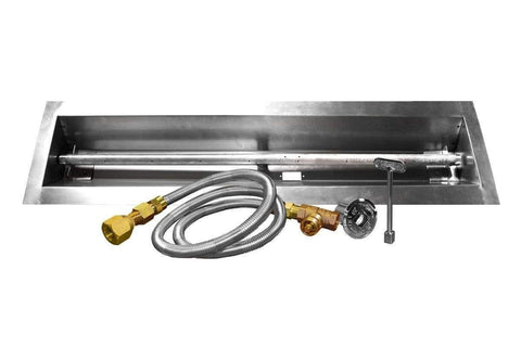 Image of Firegear Linear Stainless Steel Pan and Gas Burner Kit - Fireplace Choice