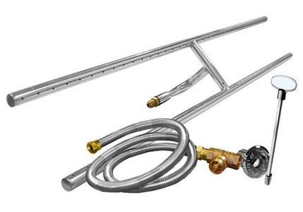 "Firegear 36"" Stainless Steel Gas H Burner Kit (FG-H-36SSK) - Fireplace Choice"