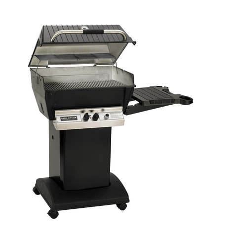 Broilmaster H3 Deluxe Natural Gas Grill With Black Cart and Drop Down Side Shelf - H3PK1N - Fireplace Choice