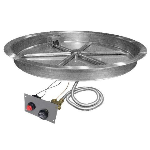 "Image of Firegear Assemble and Finish 48"" Round Fire Pit Enclosure For Natural Gas (ANFR48) - Fireplace Choice"