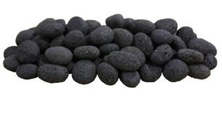 Firegear 50-Lb. Black Rolled Lava Stones (FG-LS50) - Fireplace Choice