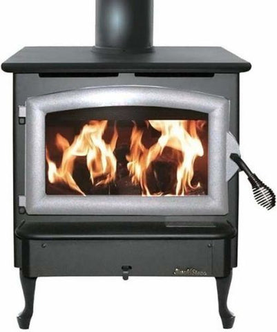 Buck Stove Model 21 Non-Catalytic Wood Stove Pewter Door - FP 21P - Fireplace Choice