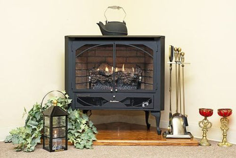 Buck Stove Model 384 Vent-Free Natural Gas Stove - NV 3844NAT-DOORS - Fireplace Choice