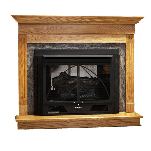 Buck Stove Model 34ZC Contemporary Zero Clearance Freestanding Gas Fireplace Thermostatic - NV 344EBLP-CONTMP - Fireplace Choice