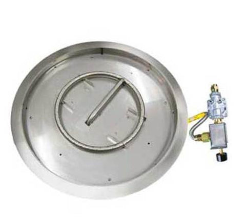 "Image of American Fyre Designs 16"" Round Burner Kit - Match Lit, Push-to-Turn - OCBM - Fireplace Choice"