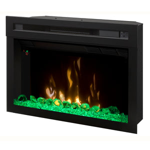 "Dimplex 25"" Multi-Fire XD Electric Firebox with Hanging Glass - PF2325HG - Fireplace Choice"