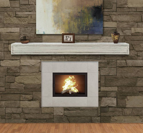 Pearl Mantels 612 Linen-Colored Sarah Multipurpose  Mantel Shelf - Fireplace Choice