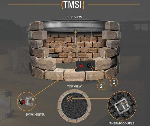 "Image of Firegear Line of Fire Fire Pit With ""H"" Burner - TMSI System - Fireplace Choice"