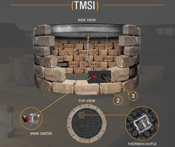 "Firegear Line of Fire Fire Pit With ""H"" Burner - TMSI System - Fireplace Choice"
