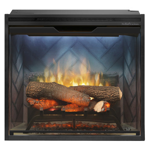 "Image of Dimplex Revillusion® 24"" Built-in Firebox with Herringbone Liner - Fireplace Choice"
