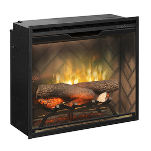 "Dimplex Revillusion® 24"" Built-in Firebox with Herringbone Liner - RBF24DLX - Fireplace Choice"
