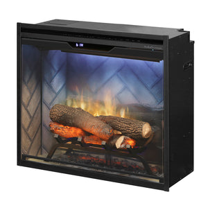 "Dimplex Revillusion® 24"" Built-in Firebox with Herringbone Liner - Fireplace Choice"