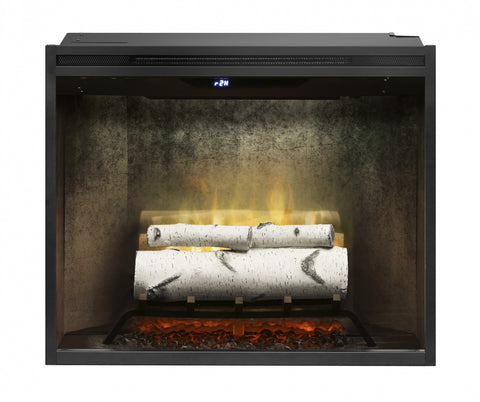 "Image of Dimplex Revillusion® 30"" Built-in Electric Firebox in Weathered Concrete Liner - Fireplace Choice"