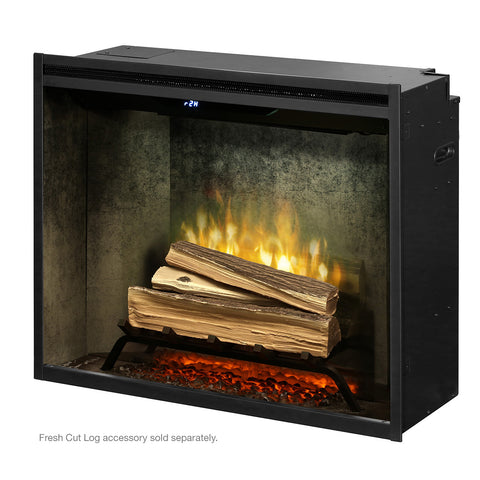 "Image of Dimplex Revillusion® 30"" Built-in Electric Firebox in Weathered Concrete Liner - RBF30WC - Fireplace Choice"