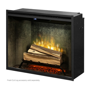 "Dimplex Revillusion® 30"" Built-in Electric Firebox in Weathered Concrete Liner - RBF30WC - Fireplace Choice"