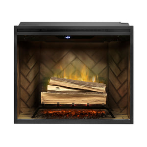 "Dimplex Revillusion® 30"" Built-in Electric Firebox with Herringbone Brick - Fireplace Choice"