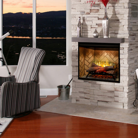 "Image of Dimplex Revillusion® 30"" Built-in Electric Firebox with Herringbone Brick - Fireplace Choice"