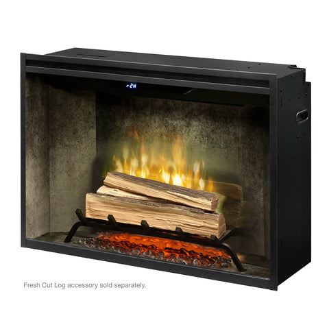 "Image of Dimplex 36"" Revillusion  Electric Firebox with Weathered Concrete Backer - RBF36WC - Fireplace Choice"