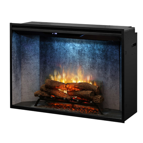 "Image of Dimplex 42"" Revillusion Built-In Electric Firebox with Weathered Concrete - RBF42WC - Fireplace Choice"