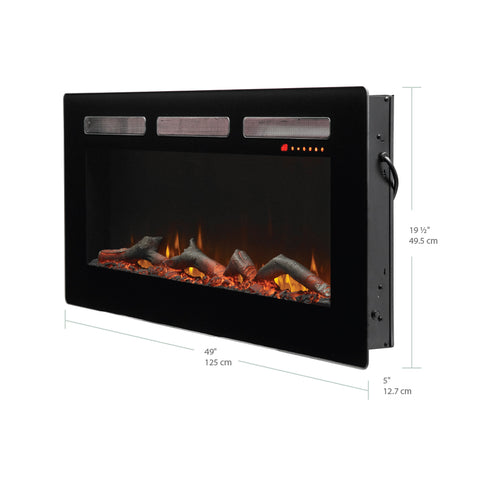 "Image of Dimplex Sierra 48"" Wall Mount Electric Fireplace - SIL48 - Fireplace Choice"