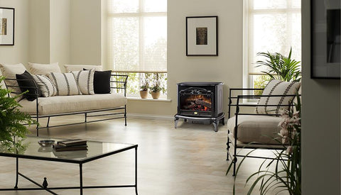 Dimplex Celeste Black Electric Fireplace Stove with Remote Control - TDS8515TB - Fireplace Choice