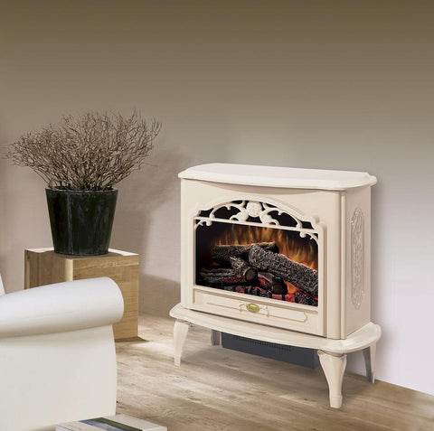 Image of Dimplex Celeste Cream Electric Fireplace Stove with Remote Control - TDS8515TC - Fireplace Choice