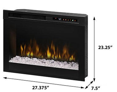 "Dimplex 28"" Multi-Fire XHD™  Plug-in Electric Firebox- XHD28G - Fireplace Choice"