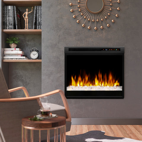 "Dimplex 28"" Multi-Fire XHD Plug-in Electric Firebox- XHD28G - Fireplace Choice"