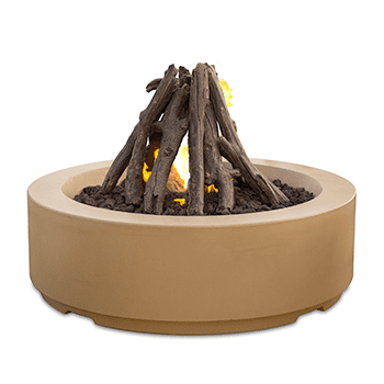 "Image of American Fyre Designs Louvre 48"" Round Gas Fire Pit - 686"
