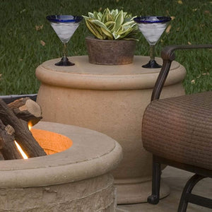 American Fyre Designs Amphora End Table and Propane Tank Holder - Fireplace Choice