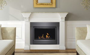 Sierra Flame Bradley 36 Direct Linear Gas Fireplace in a room