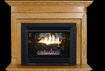 Buck Stove Model 34ZC Zero Clearance Contemporary Natural Gas Fireplace  - Thermostatic - NV 344EBNAT-CONTMP - Fireplace Choice