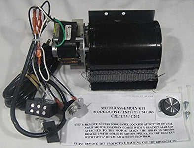Buck Stove Blower Motor For Models 21, 74, 51, 261, C22, C75, C262 - MA5126715 - Fireplace Choice